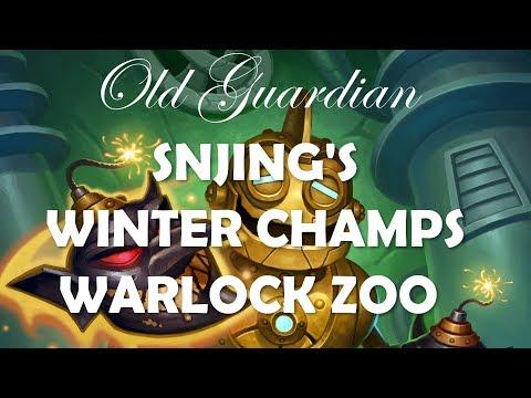 SNJing's Winter Championship Warlock Zoo (Hearthstone Rastakhan deck guide)