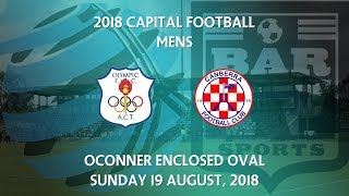 2018 Capital Football NPL - Round 21 - Canberra Olympic v Canberra FC