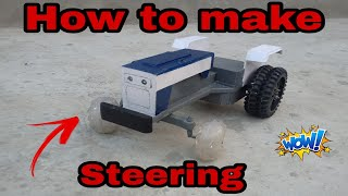 How to make toy tractor sterring 😱😍😍. Easy method 👌