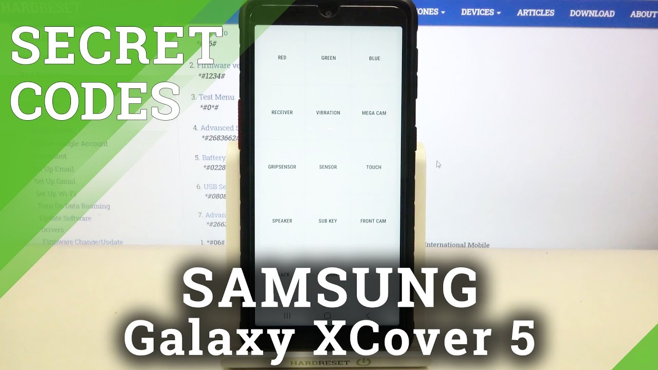 How to Use Secret Codes in SAMSUNG Galaxy XCover 5 – Open Hidden Modes / Hidden Options