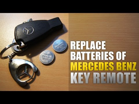 Mercedes benz key remote battery change w211 youtube for Mercedes benz key battery