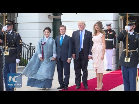 U.S. President Donald Trump hosts S. Korean counterpart Moon Jae-in at White House