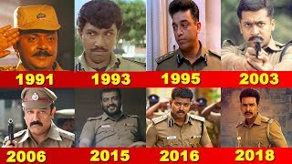 No 1 Police Movies In Tamil Cinema From 1991 to 2018 | Kamal | Ajith | Vijay | Wetalkiess