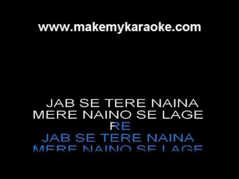 Jab Se Tere Naina - Saawariya - Shaan - Hindi Karaoke
