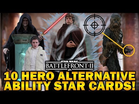 10 HERO ALTERNATIVE ABILITY STAR CARDS! Star Wars Battlefront 2 thumbnail
