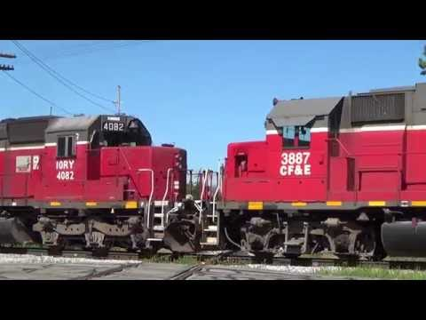Tunnelmotor leads 85 car Indiana and Ohio Railway train