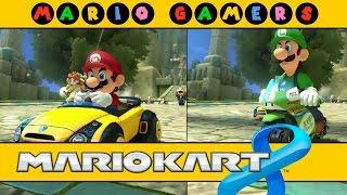 Mario Kart 8 - Multiplayer - Mario vs Luigi - Mushroom Cup 50cc