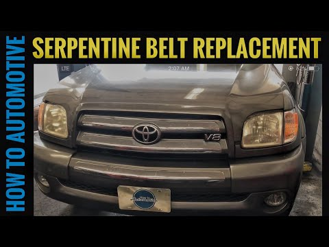 How to Replace the Serpentine Belt on a 2000-2009 Toyota Tundra