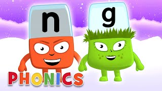 Phonics - Learn to Read | The 'NG' Team | Alphablocks