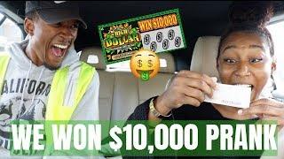 WE WON $10,000 PRANK ON BOYFRIEND *hilarious!*