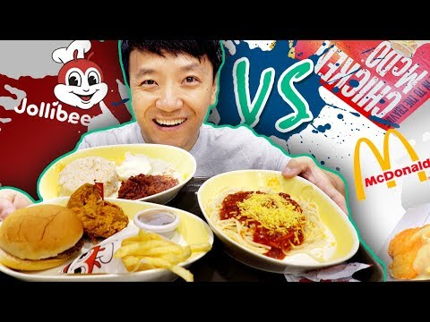 BEST Fast Food! JOLLIBEE vs. MCDONALD'S in The PHILIPPINES