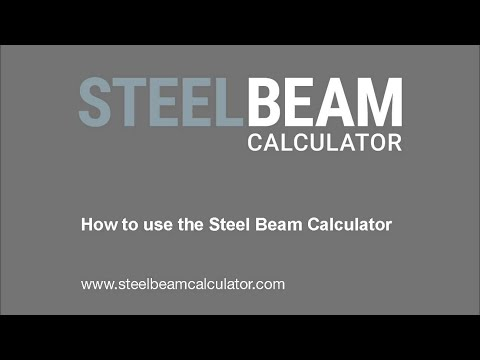 Steel Beam Calculator User Guide