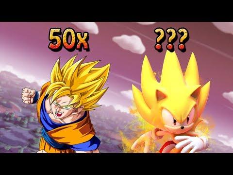 Super Sonic Vs Goku super saiyajin, qual multiplicador é maior? (Mundo Nerd)