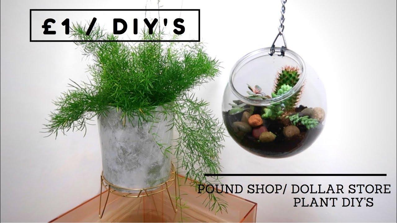 Poundland Dollar Store Diy Hanging Terrarium Marble Planter 1