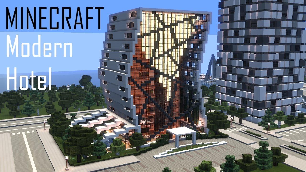 minecraft modern hotel full interior download youtube. Black Bedroom Furniture Sets. Home Design Ideas