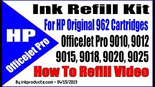 Ink Refill Kit For HP Original 962 Cartridges