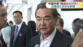 中国・王毅外相「報道大げさ」 尖閣で日本牽制(16/08/24) thumbnail