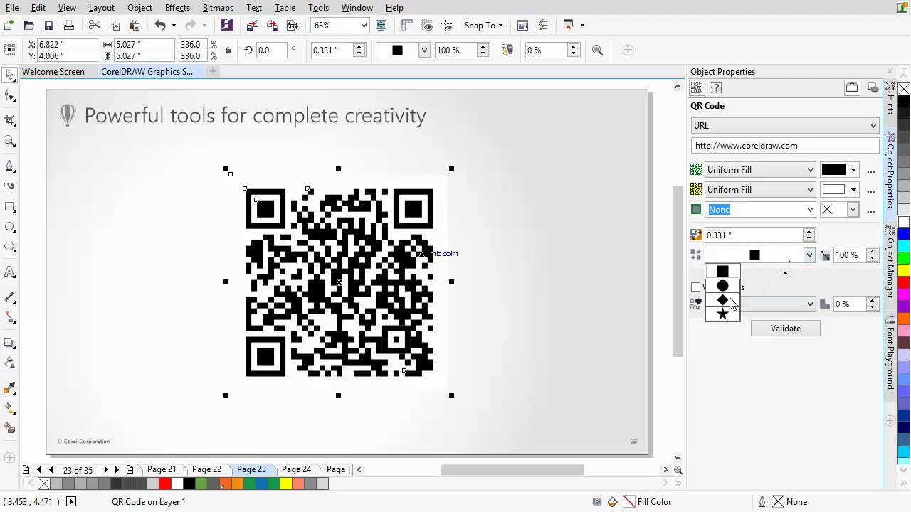 CorelDRAW® Graphics Suite X7 - New QR code generator - YouTube