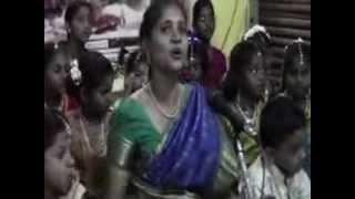 Pichi mandaram thulasi - Smt.Abirami and children - Chromepet Raghavendra Mutt