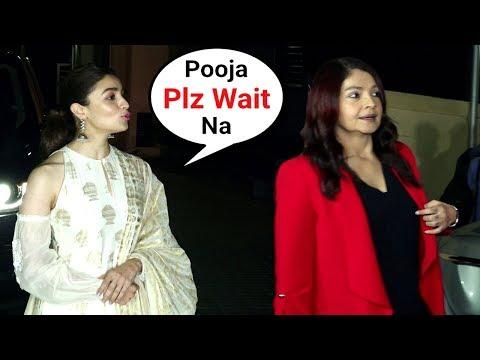 Alia Bhatt Sister Pooja Bhatt WALKS Off As Alia Gets More Media Attention