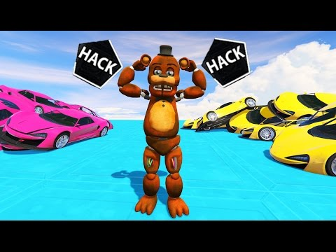 WITHERED FREDDY BECOMES AN EVIL HACKER! (GTA 5 Mods For Kids FNAF Funny Moments)