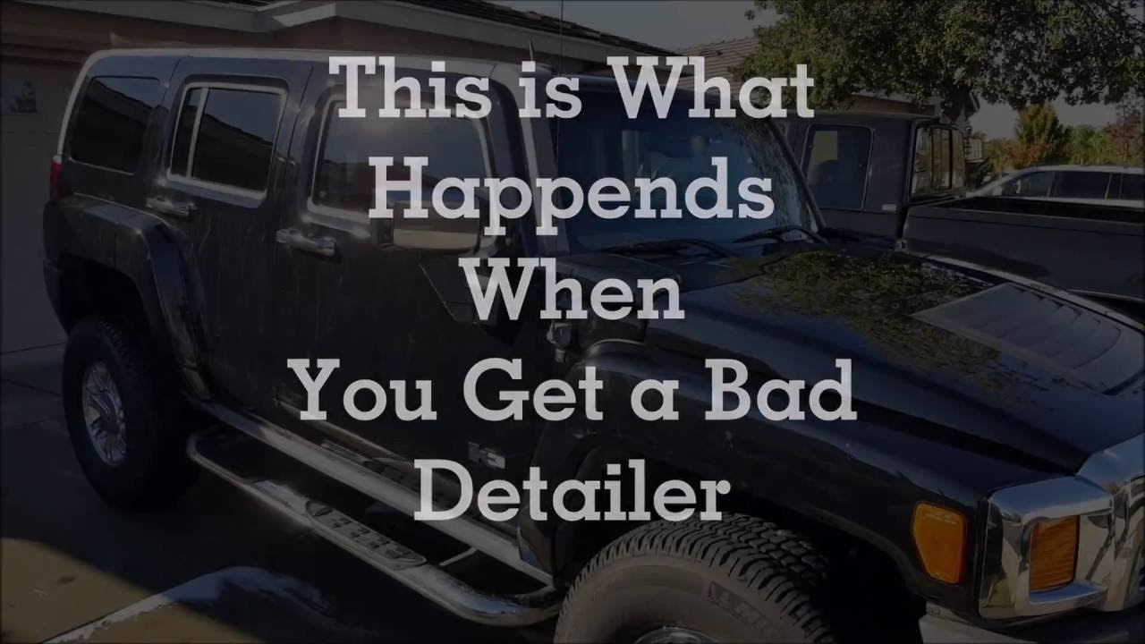 bad detail job wet paint auto detailing - Automotive Detailer Jobs