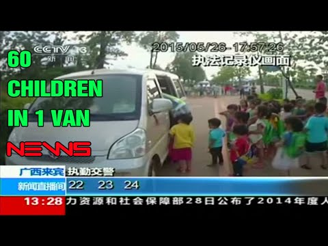 Police in southern China stop two minivans carrying 60 schoolchildren