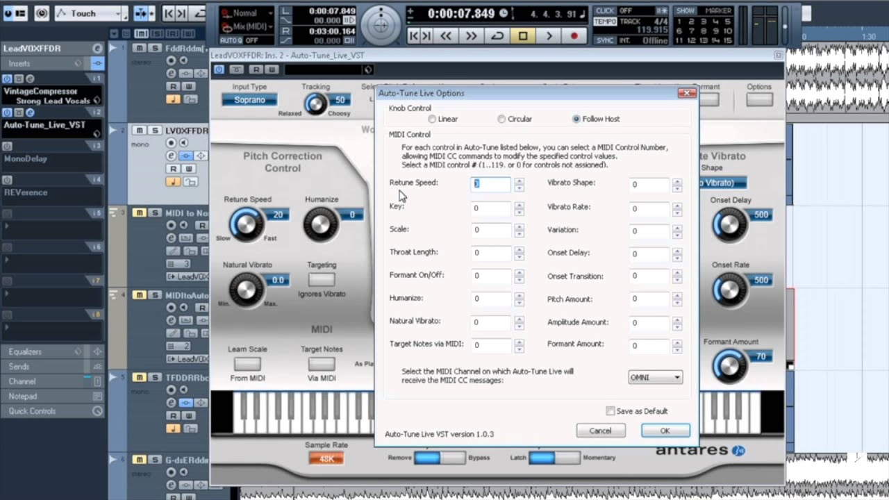 mastering auto tune midi and the auto tune effect in auto tune 7