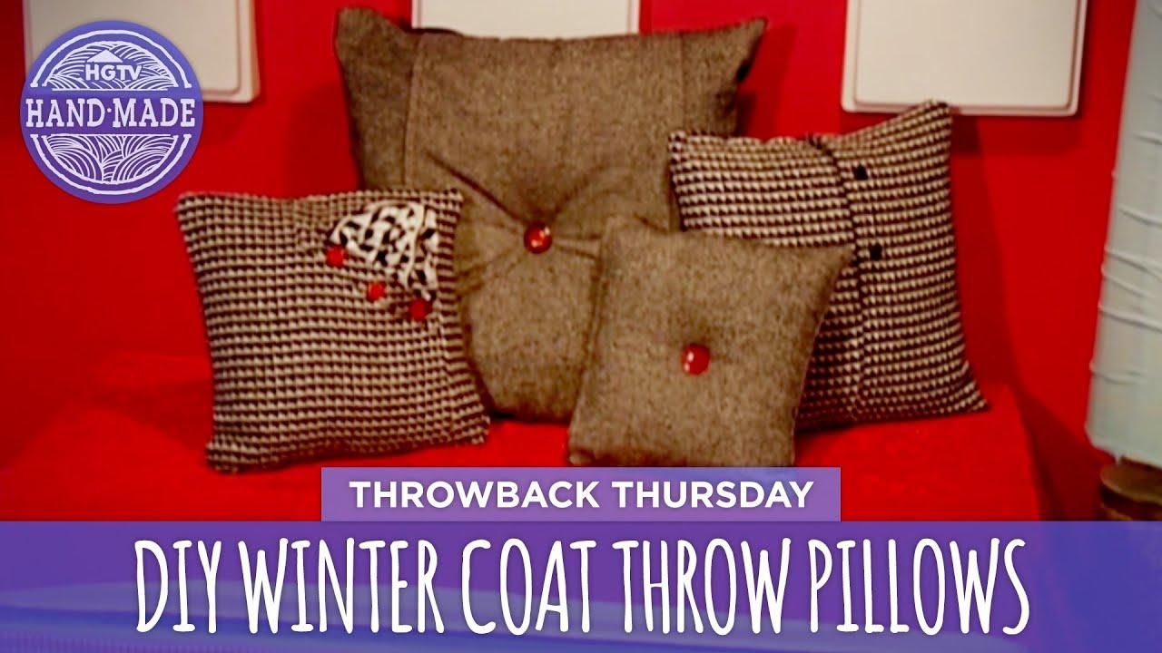 DIY Winter Coat Throw Pillows - Throwback Thursday - HGTV Handmade ...