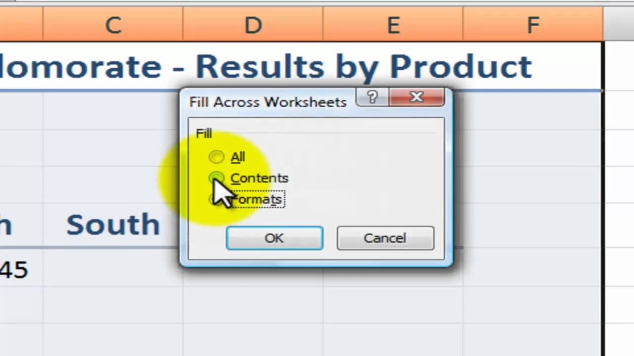 Copying Formats And Content To Multiple Excel Worksheets Youtube