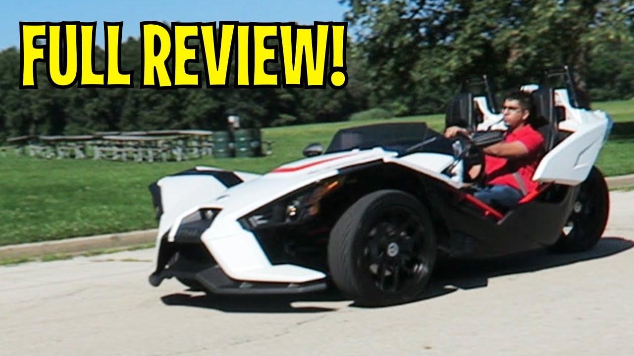 2017 polaris slingshot three wheeler futuristic car full review2017 polaris slingshot three wheeler futuristic car full review and road test
