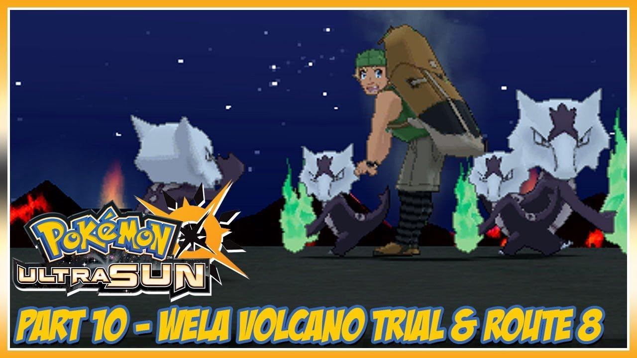 Pokémon Ultra Sun Walkthrough Part 10: Wela Volcano Trial & Route 8