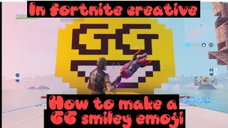 Fortnite yaratıcı GG gülen emoji nasıl