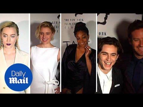 Saoirse Ronan, Greta Gerwig & Tiffany Haddish at NY Film Critics - Daily Mail
