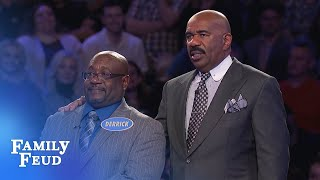 Derrick needs 14 points for $20,000! Only 2 answers left! | Family Feud