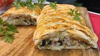 Пирог с кабачком мясом и сыром Быстрый и простой рецепт