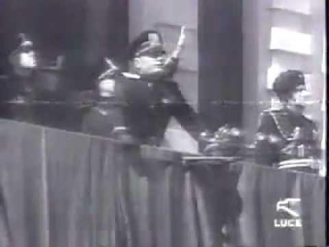 Mussolini a Cosenza 1939