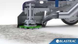 Принцип роботи однодискової мозаїчно-шліфувальної машини BG-250E