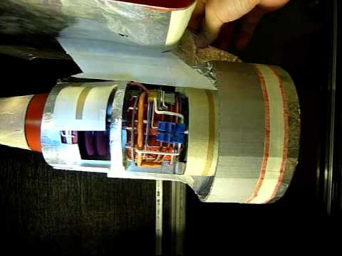 Papercraft Homemade Jet Engine Paper Model