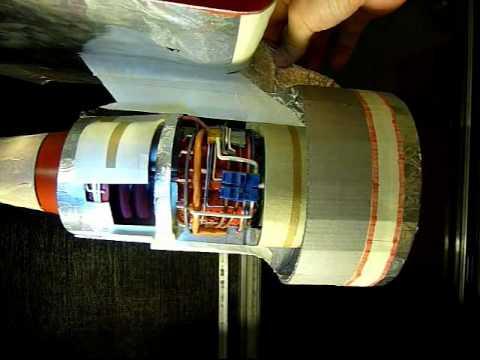 Papercraft Homemade Jet Engine Paper Model