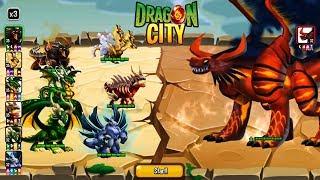 RỒNG 6vs1@@ 6 HEROIC ĐỐI ĐẦU HẮC HỎA LONG - Dragon City Game Mobile Android, Ios