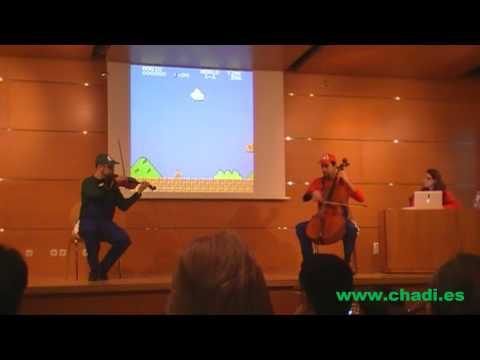 Super Mario Bros. for Violin and Cello - RetroMadrid 2010