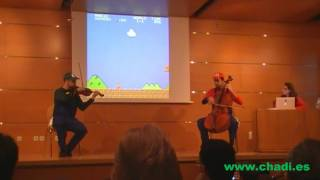 Super Mario Bros. for Violin and Cello - RetroMadrid 2010
