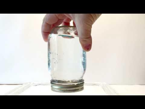 Anti Gravity Water Physics Magic Trick (Atmospheric Pressure)