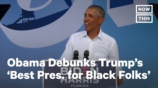 Obama: Trump Talks a Lot About Black Employment | NowThis