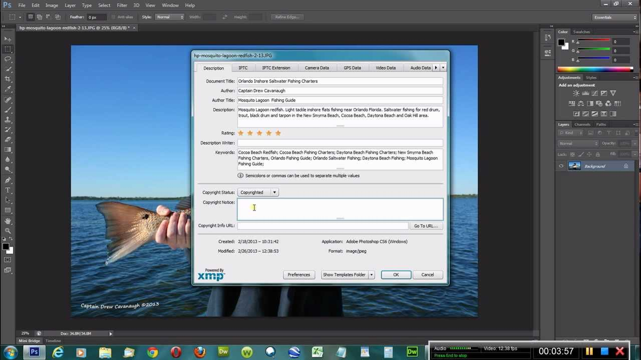 Adobe photoshop cs6 video 3 how to add filecopyright info youtube adobe photoshop cs6 video 3 how to add filecopyright info buycottarizona Choice Image