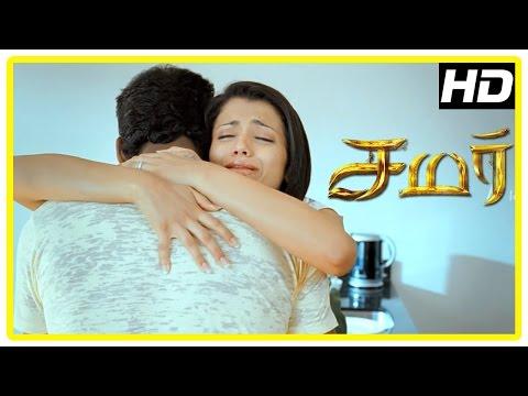 Samar Tamil Movie Scenes | Narayan Enters As Trisha's Boyfriend | Vishal Denies To Believe Trisha