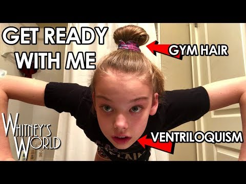 GET READY WITH ME | Whitney Bjerken Ventriloquist Gym Hair Stylist