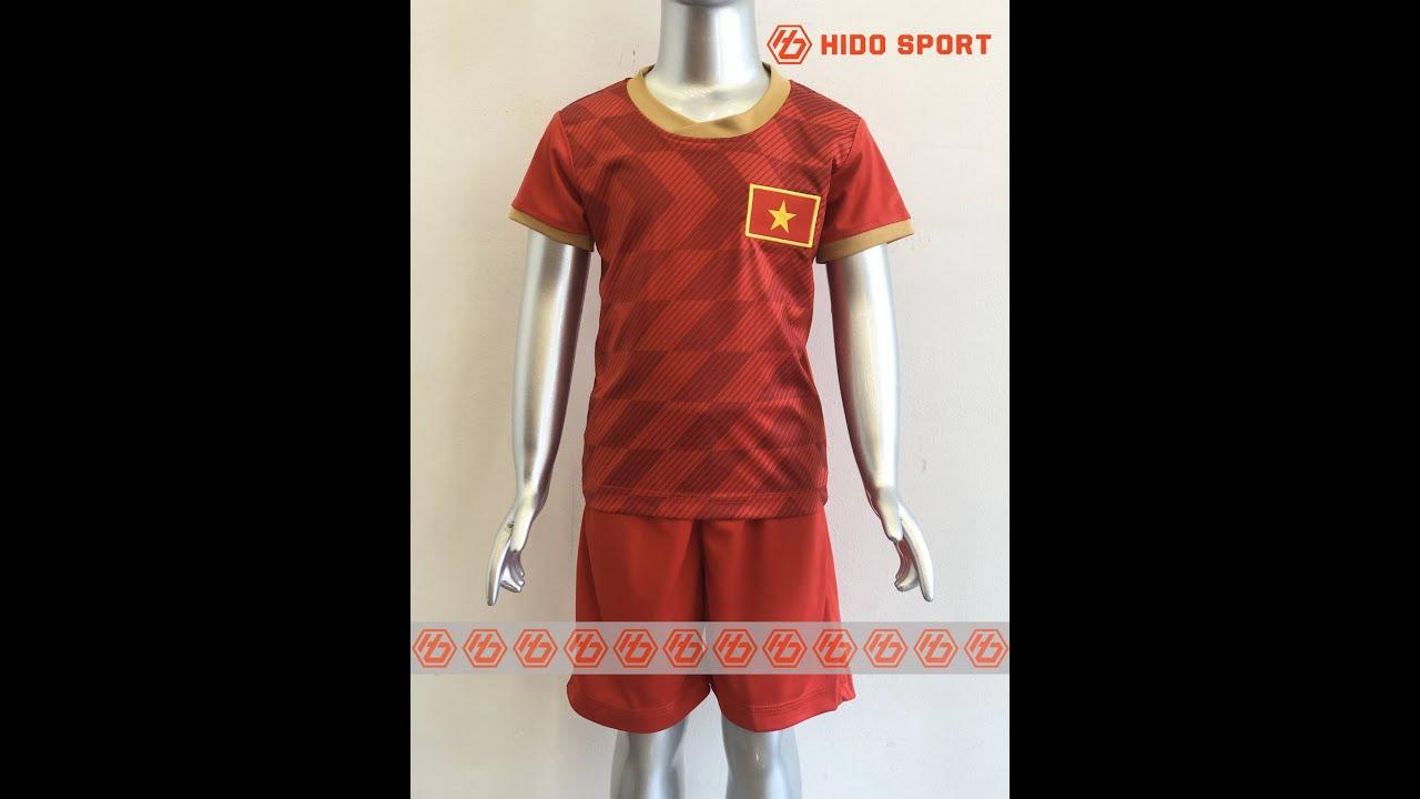 Quần áo bóng đá TRẺ EM ĐỘI TUYỂN VIỆT NAM  màu ĐỎ  đồ đá banh mới 2020-2021