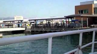 広島宇品港から高速船で安芸の宮島厳島神社に行く